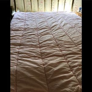 Ralph Lauren comforter full/queen pale pink